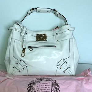 Juicy Couture large tote Patent Leather off white
